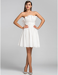 TS Couture®  / Cocktail Party / Wedding Party Dress - Ivory Plus Sizes / Petite A-line / Princess Strapless Short/Mini Taffeta