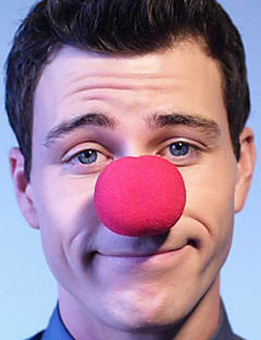Red Sponge Clown Makeup Nose for Halloween Costume Party