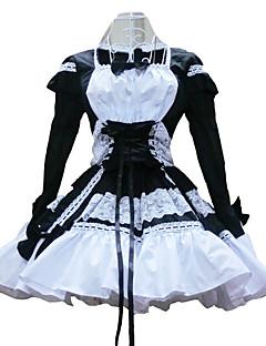 Langermet Kort Svart og hvitt Cotton Shiro & Kuro Lolita Dress