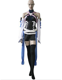 Inspired by Kingdom Hearts Kairi Video Game Cosplay Costumes Cosplay Suits Patchwork White / Black / Blue SleevelessTop / Shorts / Gloves