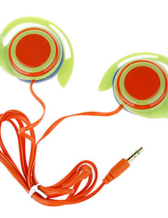 Trendy Ear Hook Stereo Earphones-Grøn + Orange (3.5mm-Plug/120cm-Cable)