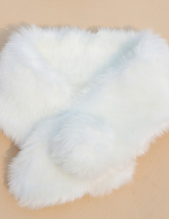 Party/Evening / Casual Faux Fur Shawls Sleeveless