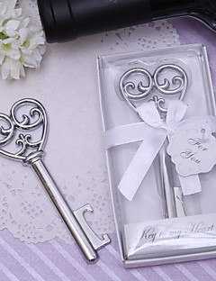Chrome Bottle Favor Bottle Openers Classic Theme Non-personalised Silver