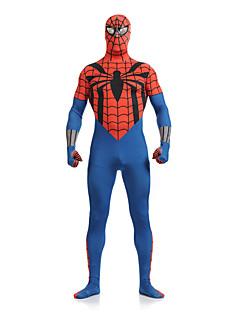 Blue and Red Spiderman Lycra Spandex Superhero Open Eyes Zentai