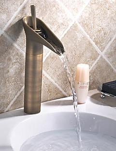 Bådeværelsesvask Vandhaner - Antik - DI Messing - Vandfald (Antik Messing)