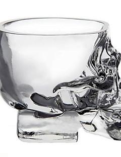 mini kristallen schedel hoofd beker wodka geschoten glas whisky drinken ware voor thuis bar