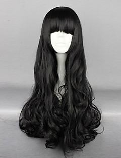 Cosplay Wigs RWBY Blake Belladonna Black Medium Anime Cosplay Wigs 70 CM Heat Resistant Fiber Female