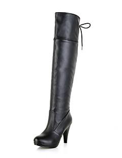Γυναικεία παπούτσια - Μπότες - Φόρεμα - Τακούνι Στιλέτο - Με Τακούνι / Μοντέρνες Μπότες - Δερματίνη - Μαύρο / Καφέ / Κίτρινο