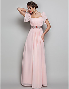 TS Couture® Prom / Formal Evening / Military Ball Dress - Open Back Plus Size / Petite Sheath / Column Square Floor-length Chiffon with Beading /