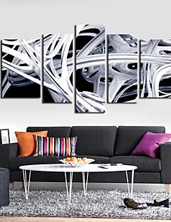 Toiles Tendues Art abstrait Cuve Lines Set de 5