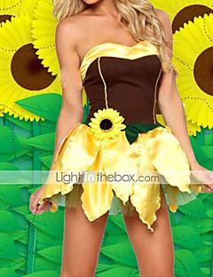 Fancy Sunflower Fairy Brown und Golden Polyester Halloween-Kostüm (2 Stück)