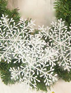 décoration de mariage feuille maison ornement flocon de neige décoration de Noël - Lot de 6
