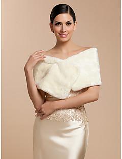 elegant faux pels med pin brud bryllup / kveld sjal / wrap bolero skuldertrekk