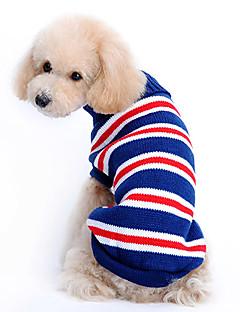 Kutyák Pulóverek Kék Kutyaruházat Tél Ριγέ