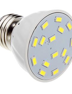 5W E26/E27 Spot LED 15 SMD 5730 420-450 lm Blanc Froid AC 100-240 V