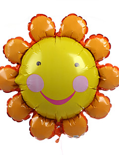 Orange Smiling Face Sunflower Metallic Balloon