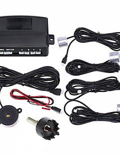Car Parking Reverse Backup Radar Sound Alert with 4 Sensors (Black,Silver)