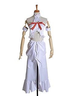 קיבל השראה מ Sword Art Online Asuna Yuuki אנימה תחפושות קוספליי חליפות קוספליי טלאים ללא שרוולים עליון שמלה צמיד עבור נקבה