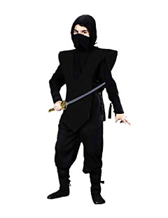 Brave Ninja Black Polyester Kids' Carnival Costume with Black Bandage (for Height 120-145cm)