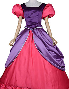 Cosplay Costumes / Party Costume Fairytale Festival/Holiday Halloween Costumes Red Patchwork Dress Halloween / Carnival Female Satin