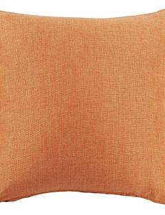 """18 """"Orange Solid polyester Dekorativa Kuddfodral"""