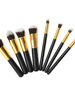 Pro High Quality åtte PCer syntetisk hår gylne Makeup Brush Set