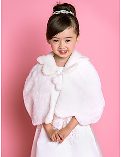 Flower Girl s Faux Fur Evening Party / Wedding Sjal