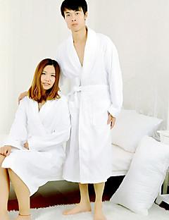 Bademantel, Terry 100% Cotton White Fest Farbe Garment verdicken