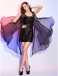 Cocktail Party / Homecoming / Holiday Dress - Black Plus Sizes / Petite Sheath/Column Scoop Short/Mini Sequined / Chiffon