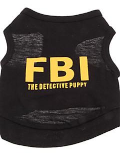 Koirat T-paita Keltainen / Maalattu Koiran vaatteet Kesä Poliisi/Armeija / Kirjain ja numero Loma / Muoti