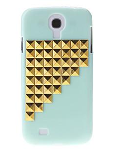 Zlato Stepenice Rivet Pattern Hard Back Cover Case za Samsung Galaxy S4 I9500