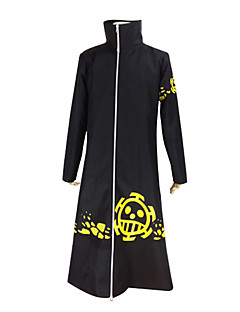 Inspired by One Piece Trafalgar Law Anime Cosplay Costumes Cosplay Suits Solid Black Long Sleeve Coat