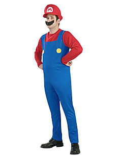 Cosplay Costumes / Party Costume Super Mario Unisex Halloween Costume with Beard (for Height 168-180)
