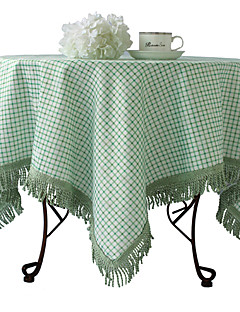 """Country Style Plaid Nappe, Poly / Coton 40 """"* 40"""""""
