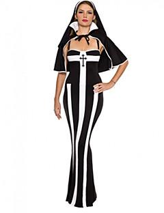 Sound of Music Adult Nun Black and White Dress Women's Halloween Costume