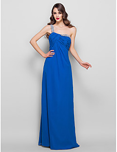 tuppi / sarake yksi lapa lattia-pituus sifonki ilta / kävelyttää mekko