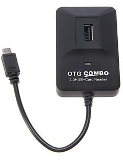 OTG Smart Multi Fcuntion Combo til Smart Phone & Pad (2,0 HUB + Card Reader)