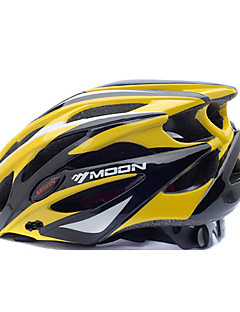 MOON BIke Helmet Cycling Yellow+Black PC+EPS 25 Vents MTB Protective Helmet
