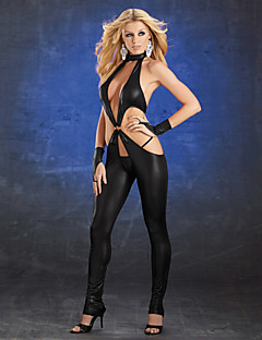 Ultra Sexy Black PU Catsuit Women's Costume