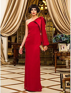 TS Couture® Formal Evening / Military Ball Dress - Elegant Plus Size / Petite Sheath / Column One Shoulder Floor-length Chiffon with