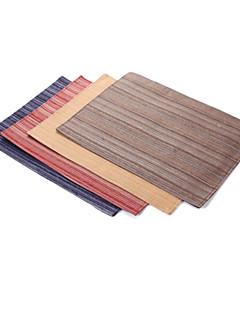 Sets de table classiques, Ensemble de 4 poly coton teint