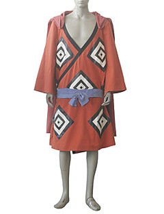 Inspired by One Piece Jinbe Anime Cosplay Costumes Cosplay Suits Print Orange Coat / Dress