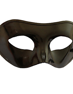 Mysterious  Flattop Black PVC Party Half-face Mask Halloween Props Cosplay Accessories