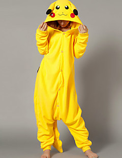 Kigurumi Pajamas Pika Pika Leotard/Onesie Halloween Animal Sleepwear Yellow Patchwork Polar Fleece Kigurumi UnisexHalloween / Christmas /