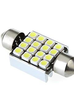 36mm 16 1210 SMD LED Canbus Interior del coche blanco adorno de la bóveda de la lámpara de la bombilla