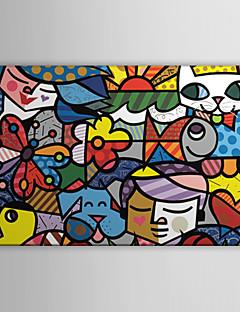 arte su tela pop art fumetto Britto giardino pronto da appendere