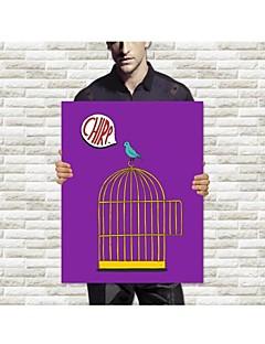Toiles Tendues L'oiseau permanent sur la cage