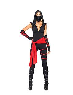 Cosplay Kostýmy / Kostým na Večírek Ninja Festival/Svátek Halloweenské kostýmy Černá Barevné blokyRukavice / Pásek / Více doplňků /