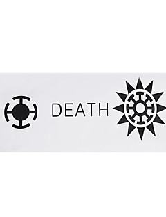 Cosplay Accessories Inspired by One Piece Trafalgar Law Anime Cosplay Accessories Flag White Polyester Male