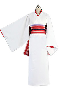 Inspired by Noragami Cosplay Anime Cosplay Costumes Cosplay Suits / Kimono Solid White Kimono Coat / Headpiece / Underwear / Belt / Bow